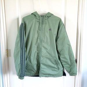 adidas | Reversible Green & Gray Thick Jacket